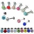 1 pcs Colorful Rhinestone Piercing Nose Lip Jewelry  Body Jewelry For Man Women Studs 1mm length Pick Free Shipping