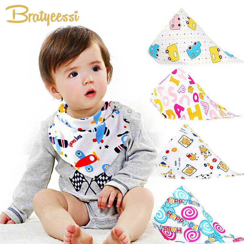 Promotion Cotton Baby Bibs Infant Sling Neckerchief Triangle Bandana Bibs for Babies 1 PC Random Color
