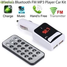 Автомобиль Беспроводной MP3 Аудио-Плеер с Bluetooth FM Передатчик С Управления Беспроводной FM Модулятор Автомобильный Комплект Громкой Связи ЖК-Экран SE 23