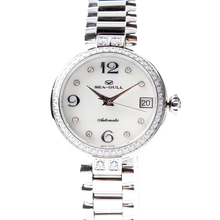 Seagull Rhinestones Bezel Mother of Pearl Dial Women Automatic Mechanical Fashion Watch 716.755L