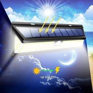 Image 3 - 2 حزمة 180 LED COB الشمسية حديقة محس حركة الجدار ضوء مصباح مقاوم للماء زاوية إضاءة واسعة في الهواء الطلق لوز الشمسية Led الفقرة الخارجية