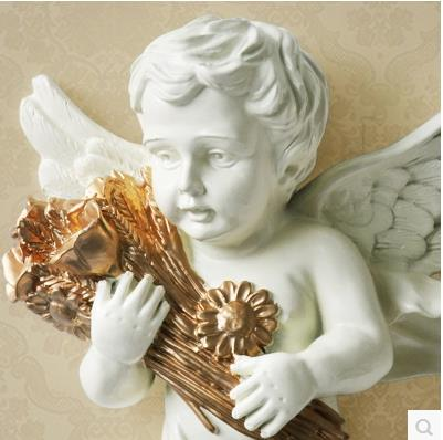 European-style resin wall Angel, wall decoration crafts, creative - Home Decor - Photo 5