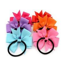Newborn Grosgrain Ribbon Girl Bow Elastic Hairband Baby Hair Tie Rope Bowknots Hair Bands