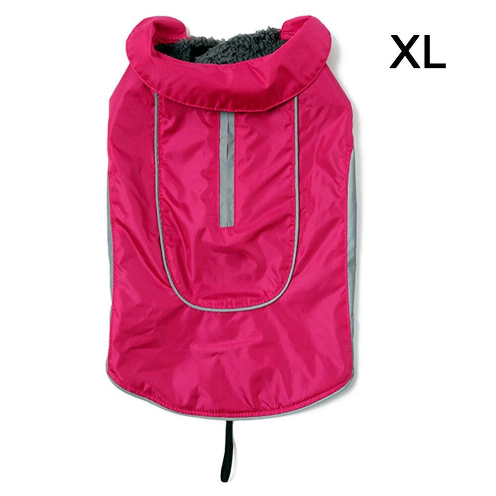 Одежда для питомцев, собачий плащ для кошек, водонепроницаемый светоотражающий ремень, красный плащ для щенка, дождевик для собак, одежда для больших собак, ropa para perro, Прямая поставка - Цвет: 6 rose red XL
