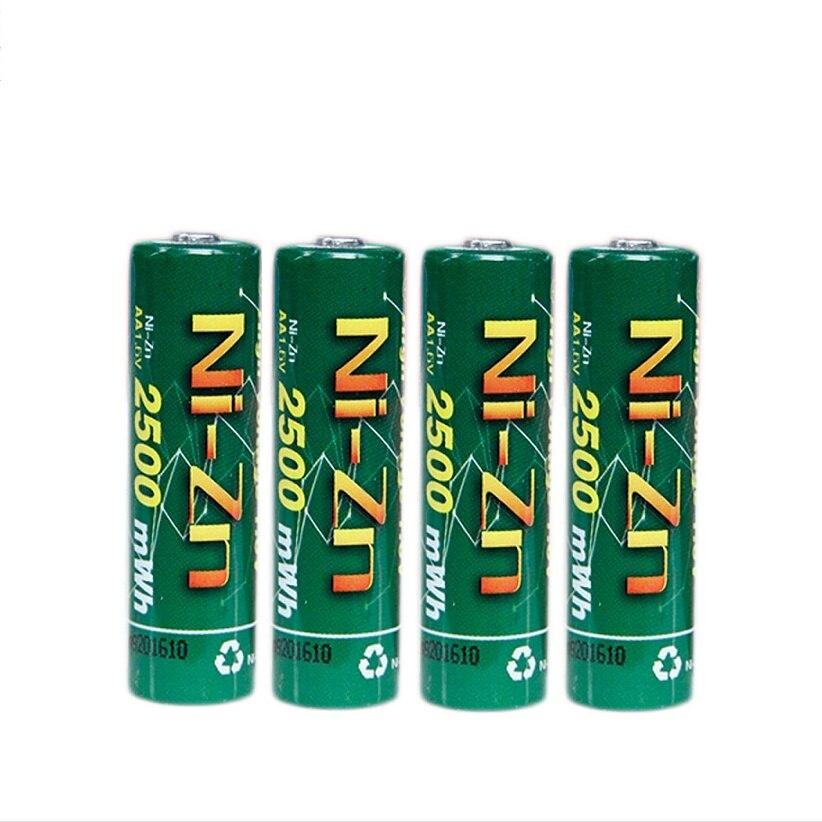 Bateria recarregável do ni-zn 2a aa do níquel-zinco 2500mwh das baterias 1.6 v de bpi aa de 4 pces