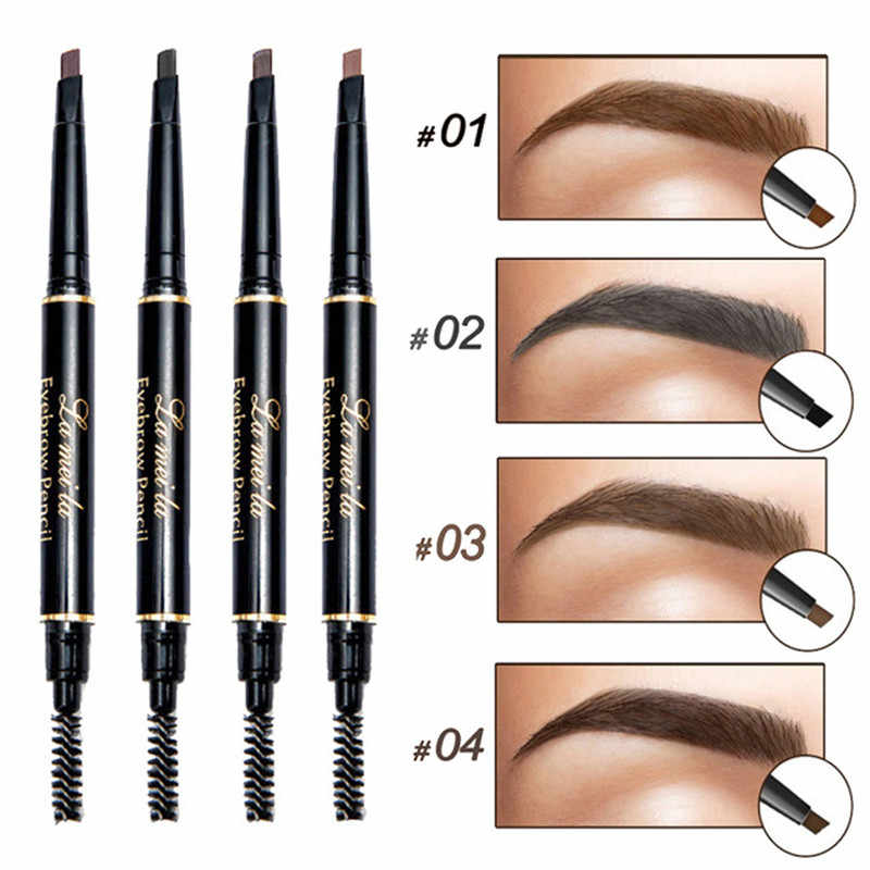 New Double-Ended 3D Eyebrow Pencil with Mascara Natural Eyebrow Tint Cosmetics Waterproof Pigment for Eyebrows Black Brown