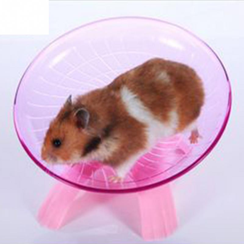 18cm Diameter Hamster Mouse Plastic Running Disc Flying Saucer Pet Exercise Sport Jogging Wheel Pet Toys