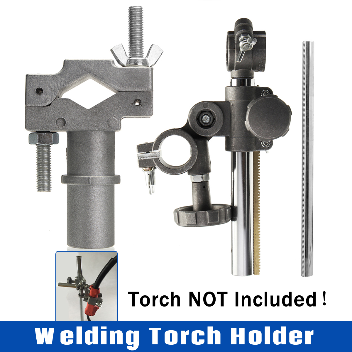 Mini Welding Torch Holder Support Electrode Holder Clamp Mountings Stand for MIG MAG CO2 TIG Welding Machine Welding Positioner welding positioner turntable accessories welding torch holder support torch clamp mountings stand torch holder