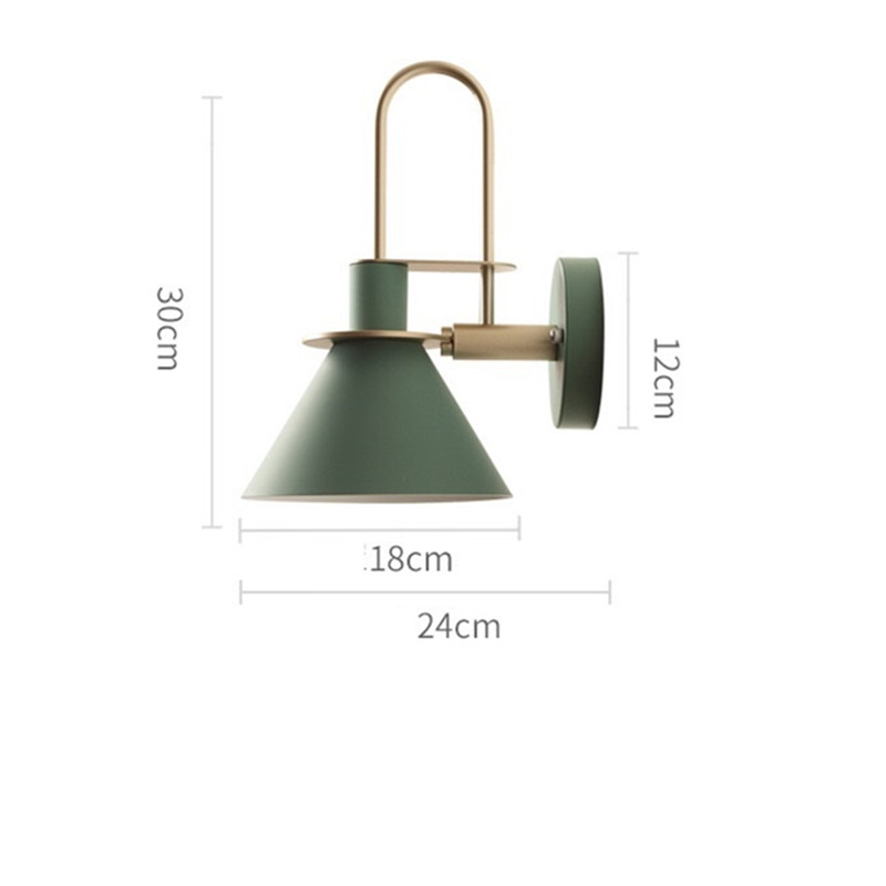 New Nordic wall lamp Bedside lamp Bedroom Modern living room Walkway Staircase Simple iron belt wall lamp LED lamp in Wall Lamps from Lights Lighting