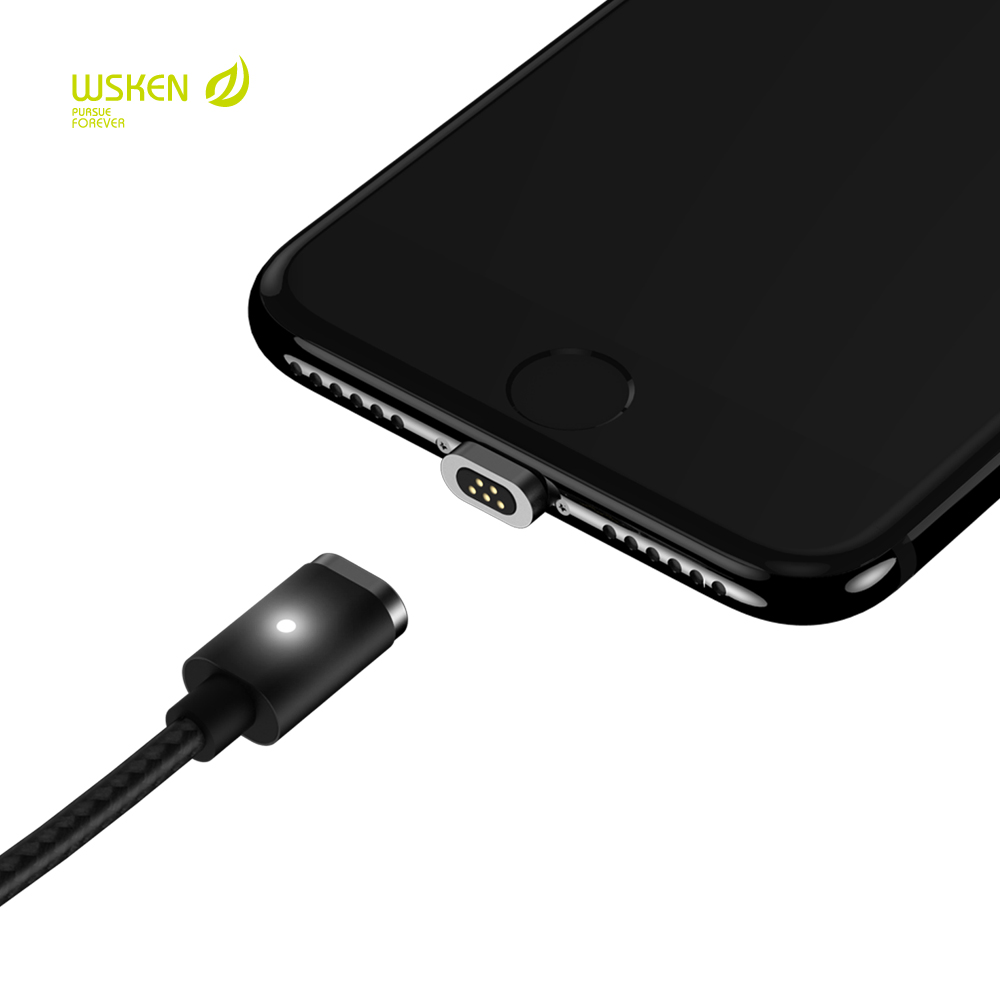 bilder für Original wsken mini2 magnetkabel linie für iphone led-anzeige usb sync und schnelle ladekabel für iphone 7 6 s plus 5 se