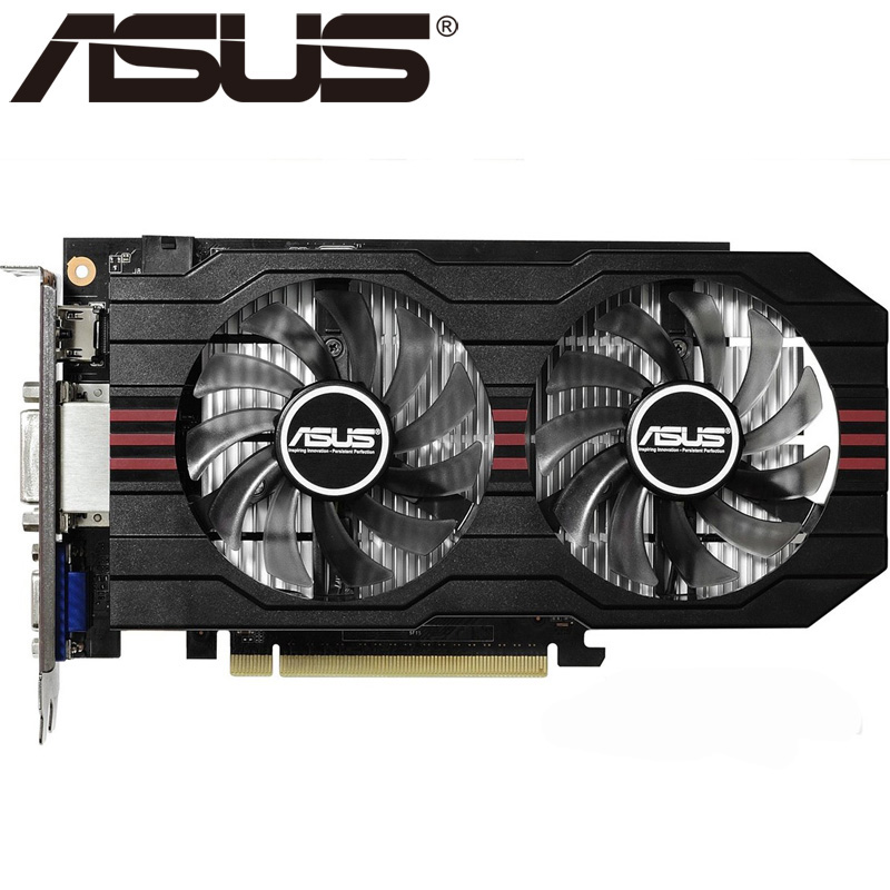 ASUS Video Card Original GTX 750Ti 2GB 128Bit GDDR5 Graphics Cards for nVIDIA Geforce GTX750Ti Hdmi Dvi Used VGA Cards On Sale asus asus vp228h 21 5 черный dvi hdmi full hd