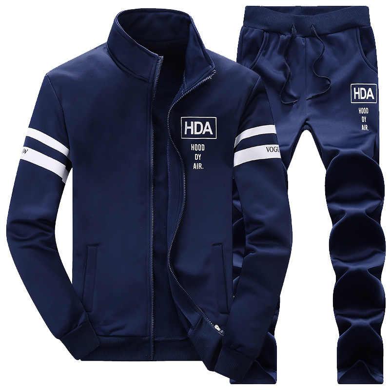 Sweatsuit Men Clothing Tracksuit Set 2019 Men's Set Spring Summer Men Tracksuit Sportswear 2 Piece Set Suit Jacket+Pant