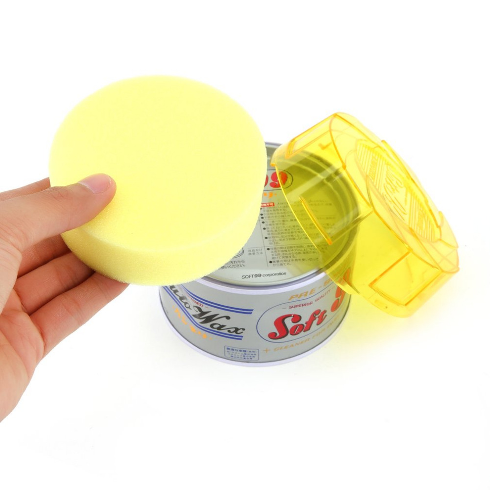 car wash Soft Paste Car Wax Round Polishing Wax Sponge Pad Auto Care Wash Protect Car Coating Scratches Remove Car Paint Repair
