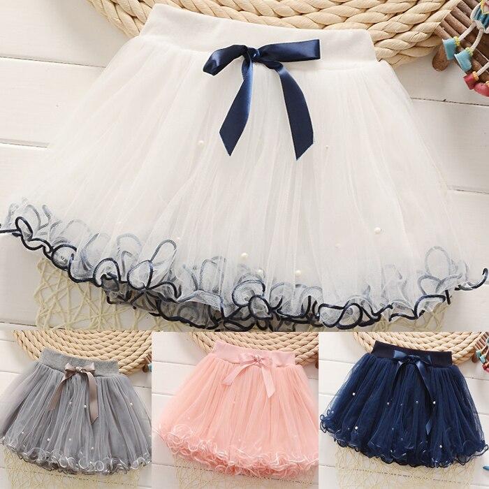 Белая юбка на детях