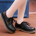 New Mori Girl Japanese round toe student shoes black leather shoes women cos School Uniform Uwabaki Flat JK uniform shoes