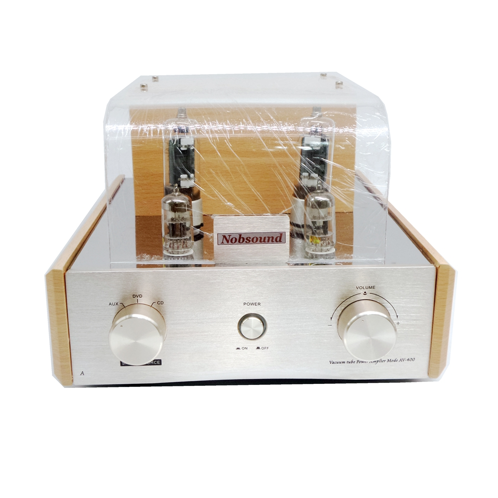 amplifiers audio hifi 6p3p vacuum tube HiFi hoem power amplifier Using 61n preamplifier sound is clear and loud Nobsound AV400 queenway w4 8 fully direct heated tube power amplifiers use 2a3 tube hifi amplifier