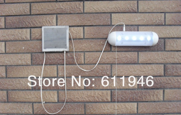 18pcs/lot Outdoor 5 LED Solar Powered Panel Garden Path Wall Shed Fence Yard Light Lamp with Package SL-01W