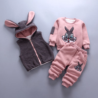 Baby Girl Clothes For Toddler Boys Cartoon Clothing Sets Winter Warm High Quality Vest Long Sleeve