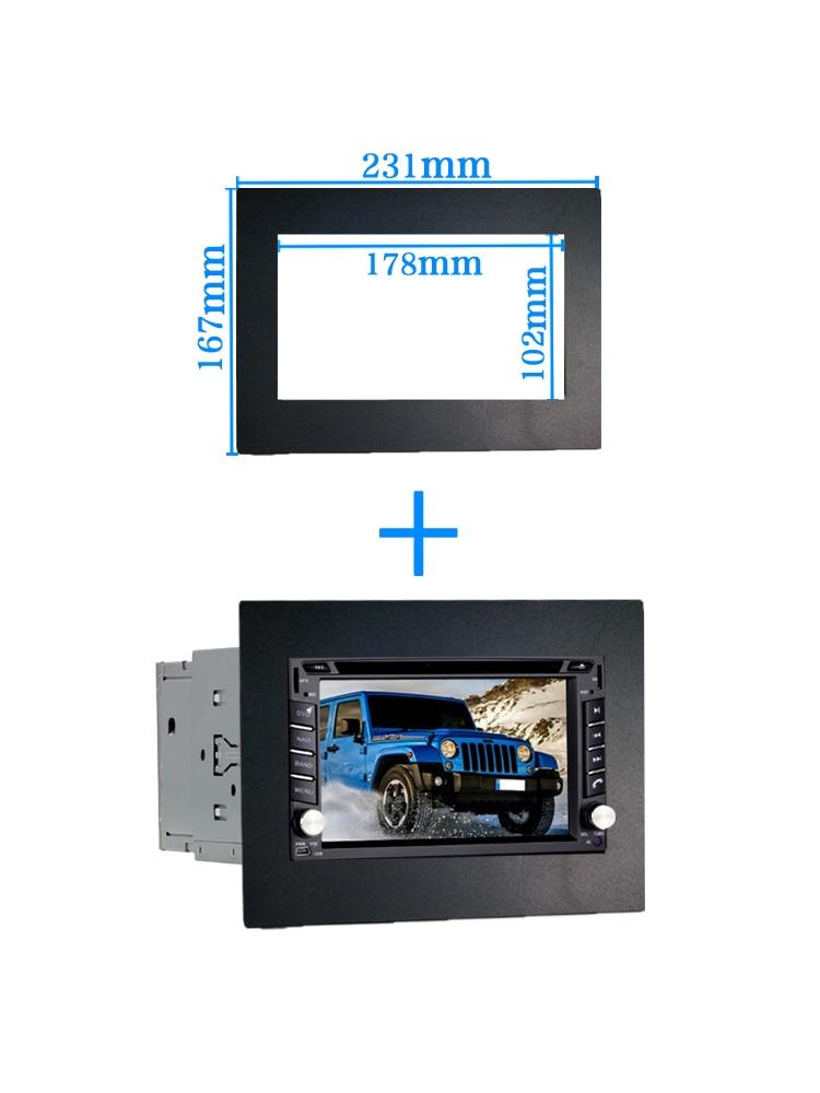 Автомобильная рамка для универсального 2 Din Авто Радио/android плеер рамка для модификации декоративная рамка 178x102 мм панель без зазора