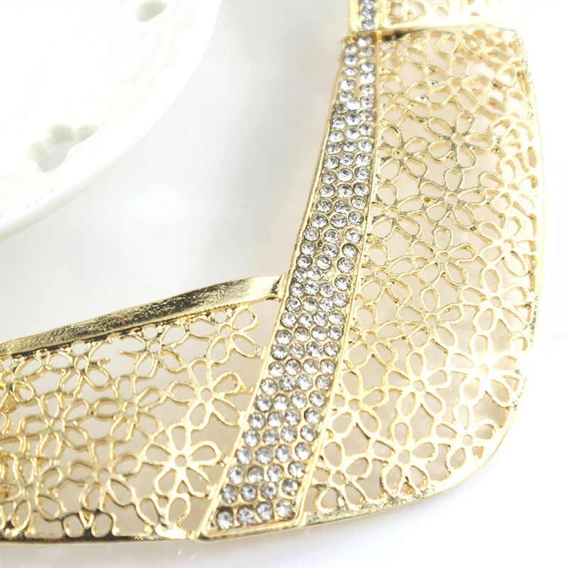 Jiayijiaduo Afrika Manik-manik Perhiasan Set Bisuteria Perhiasan Parure Bijoux Femme Pernikahan Perhiasan Nigeria Set untuk Wanita Kalung