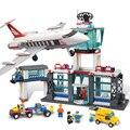 791 unids serie de la ciudad aeropuerto de pasajeros figuras building blocks enlighten educativos ladrillos niños diy juguetes para niños