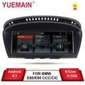YUEMAIN Android 8.1 Auto Dvd-speler voor BMW 5 serie E60 E61 E62 E63 3 serie E90 E91 CCC/ CIC Navigatie Radio Auto Multimedia