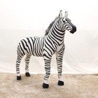 Большой Творческий стоя Simulaiton Зебра Плюшевые игрушки Black & White Zebra кукла подарок о 110x90 см 0868