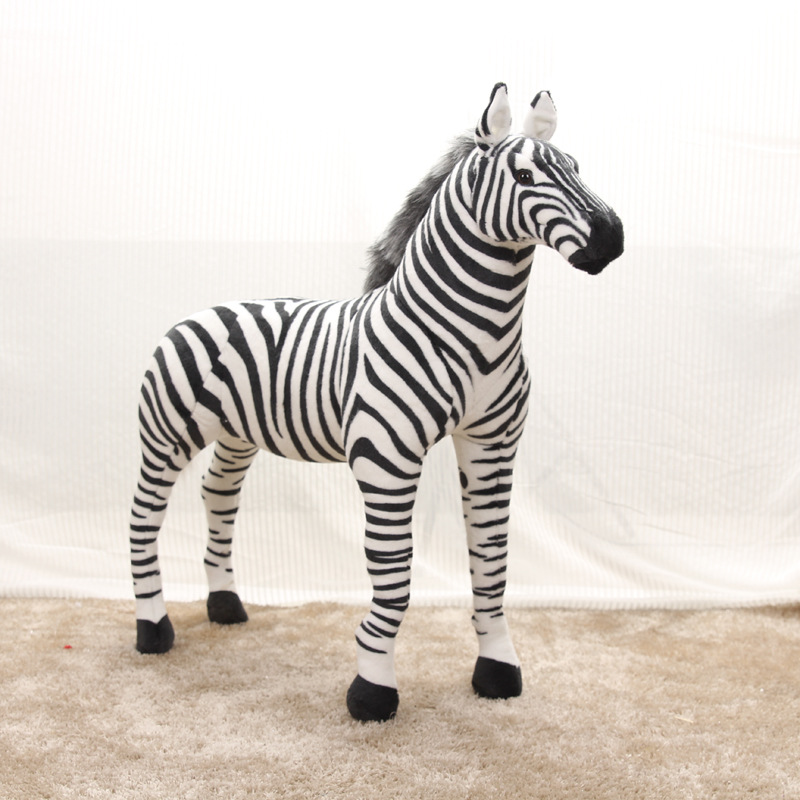 big creative standing simulaiton zebra toy plush black&white zebra doll gift about 110x90cm 0868