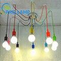 Modern chandeliers lamp color silicone E26/ E27 lampholder 6/10 pendants Restaurant bar LED light fixture~ NO BLUB