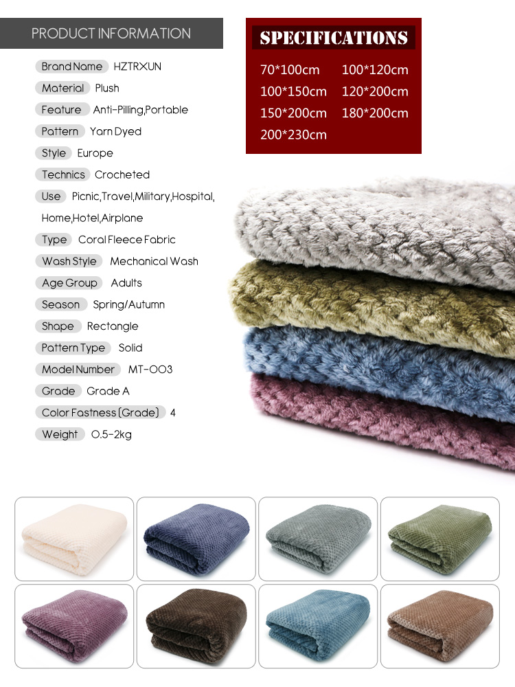 Image 3 - CAMMITEVER Super Soft Blanket Flannel Aircraft Sofa Use Office Children Blanket Towel Travel Fleece Mesh Portable Car Travel-in Blankets from Home & Garden