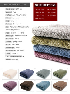 Image 3 - CAMMITEVER Super Soft Blanket Flannel Aircraft Sofa Use Office Children Blanket Towel Travel Fleece Mesh Portable Car Travel