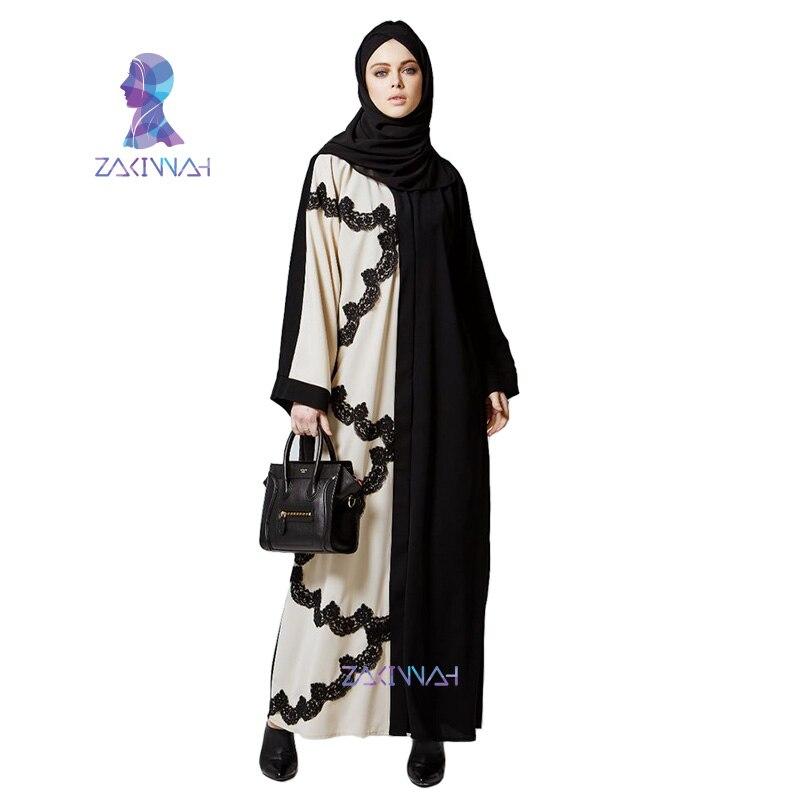 Új divat alkalmi női Abaya ruhák csipke muzulmán török - Nemzeti ruhák