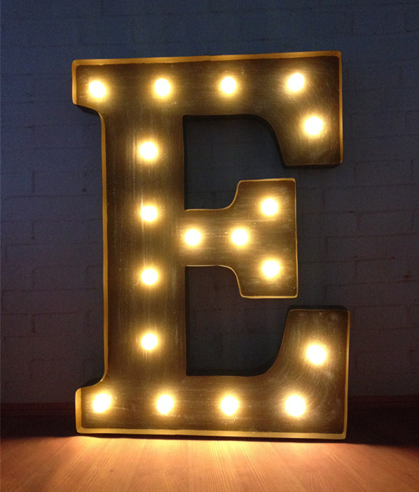 Customisation vintage large metal led marquee sign letters for Large vintage marquee letters