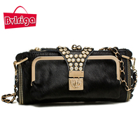 2015 New Ms Cowhide Small Bag Diamond Purse Dinner Packages Elegant Lady Hand Bag Diamante Clutch