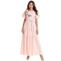 Plus Size Robe Femme Ete 2019 Summer Ukraine Embroidery Maxi Women Bandage Dress Vestido De Festa Longo Elbise Sukienki Damskie