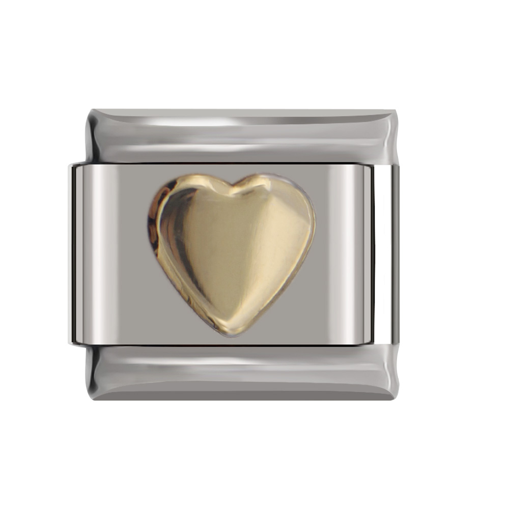 Hapiship 9mm Width Original Daisy Gold Silver Red Pink Black Heart Italian Charm Bracelet Stainless Steel Jewelry Making DJ053