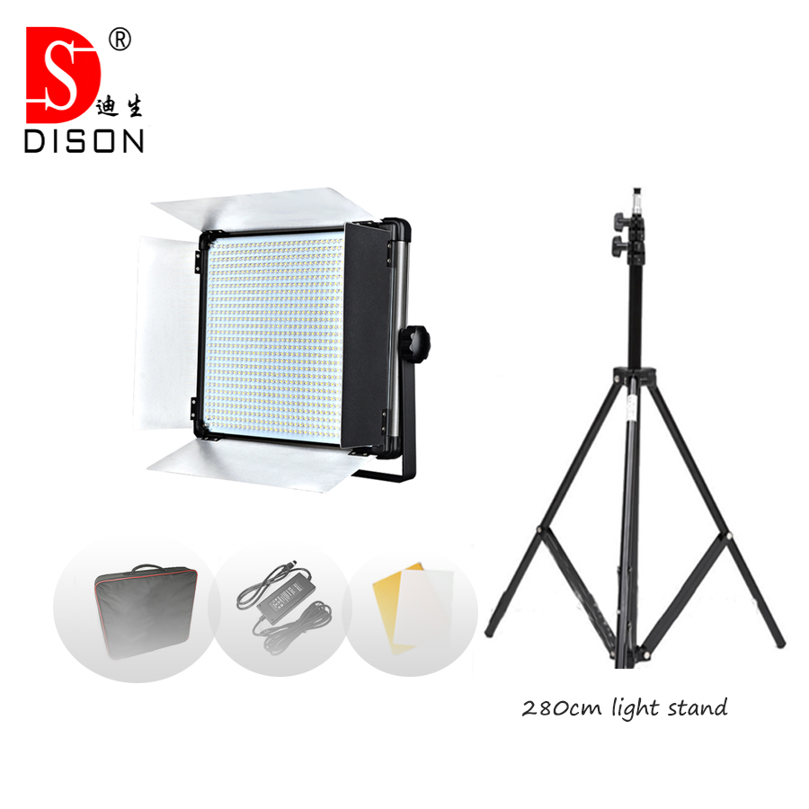 Yidoblo LED Lamp Kit D-1080 80W 7000 Lumen video light Studio Day-light Photography continue lighting + handbag +tripod set