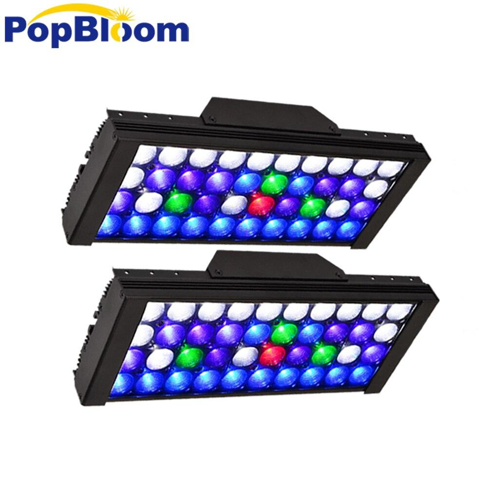 PopBloom LED Aquarium marine aquarium led lighting lamp for reef coral fish DSunY 4 Channels Programmable