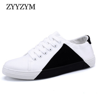 Men Canvas Shoes Spring And Autumn Lace Up Style Breathable Fashion Trend Casual Youth Students Shoe