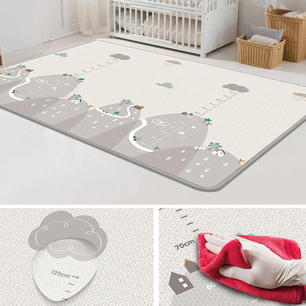 Double côtés bébé jouer tapis enfant tapis tapis imperméable bébé ramper tapis épais pique-nique tapis tapis infantile chambre décor 200*180*1 cm
