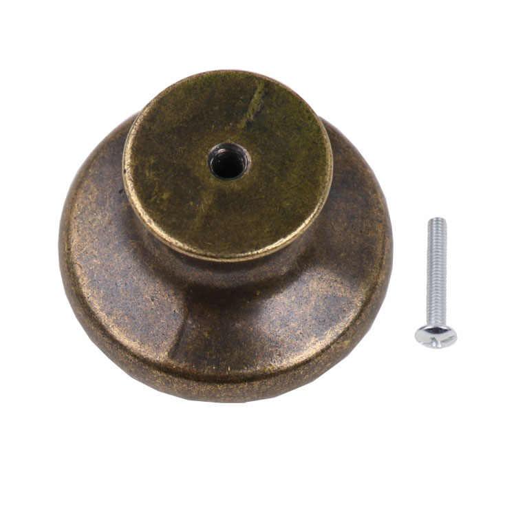 Baoblaze Antiek Messing Vintage Klok Knop Kastdeur Lade Handvat Pull Knop Hardware Keuken Kast Handvat Meubels Decor