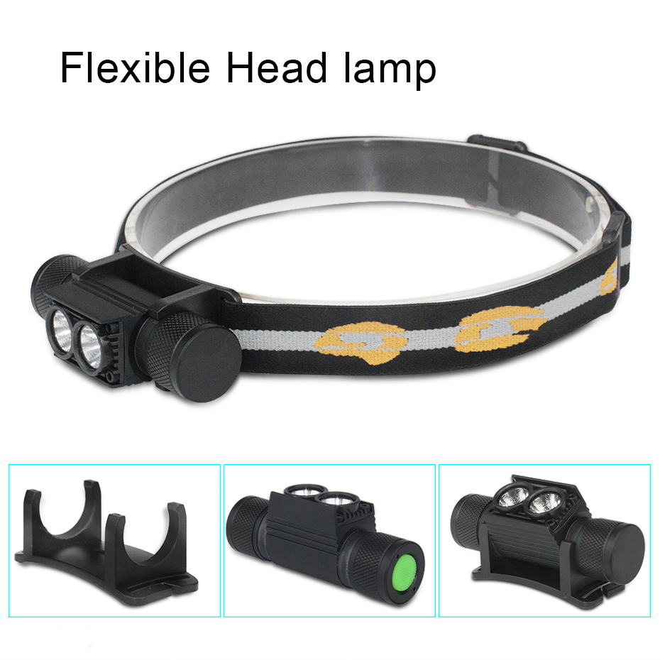 LED Headlamp Flashlight Head 18650 Rechargeable Mini LED Flashlight Head Lamp T6 10W 2000LM LED Headlamp Waterproof led IP66 fenix hp25r 1000 lumen headlamp rechargeable led flashlight