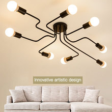 цены Retro industrial loft Nordic wrought iron floor lamp living room creative art personality duckbill lampshade spider ceiling lamp