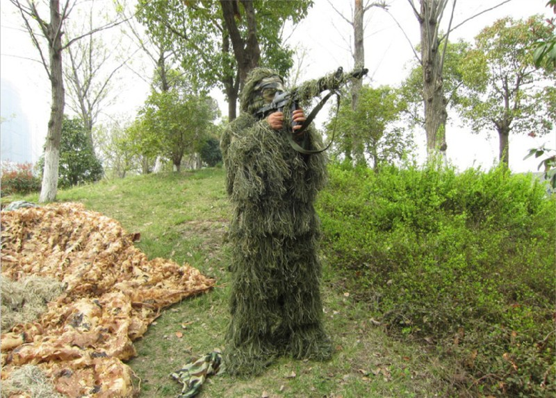 2017New Forest Design jungle camouflage Ghillie costume type d'herbe - Sportswear et accessoires - Photo 3
