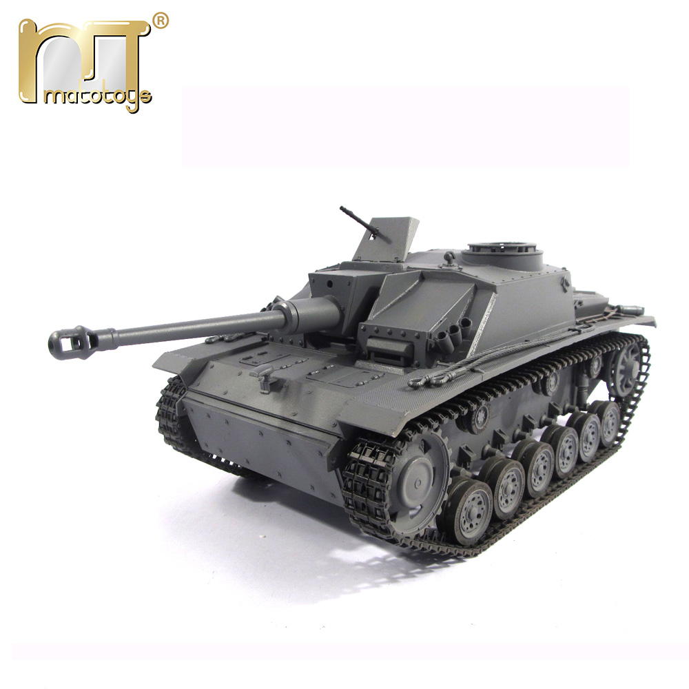 Mato 1/16 Complete 100% Metal German Stug III rc 1:16 metal Tank Recoil Barrel Version Grey Yellow WWII model Infrared battle коммутатор zyxel gs1100 16 gs1100 16 eu0101f