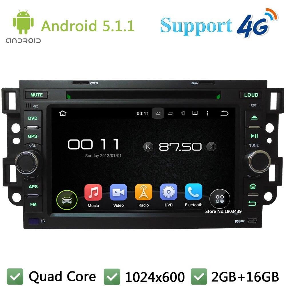Quad Core 1024*600 Android 5.1.1 Car DVD Player Radio Stereo 4G For Chevrolet Aveo Epica Captiva Tosca Kalos Spark Optra Matiz