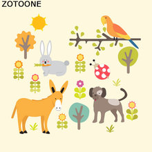 ZOTOONE Iron on Patch Cute Animal DIY Accessory Ironing Stickers for Clothing Personality T-shirt Dresses Heat Transfer Kids