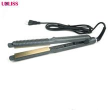 Big discount Ceramic Hair Care Curl Straightener Flat Iron Perm Splint Tourmaline Ceramic Curved Plates Flat Iron Hair Straightner