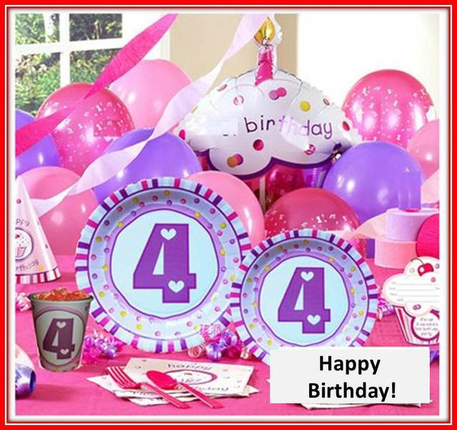 Free Shipping 4th Girl Birthday Party Supplies Decorations Basic Sets Ideas