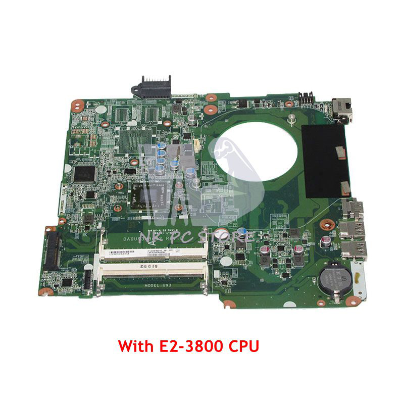 NOKOTION DA0U93MB6D2 MAIN BOARD For HP Pavilion 15-F Laptop Motherboard E2-3800 CPU Onboard DDR3 75y4160 notebook pc main board for lenovo ibm t410s laptop motherboard i5 540m cpu onboard ddr3